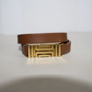 Tory Burch Double Leather Band FitBit Bracelet